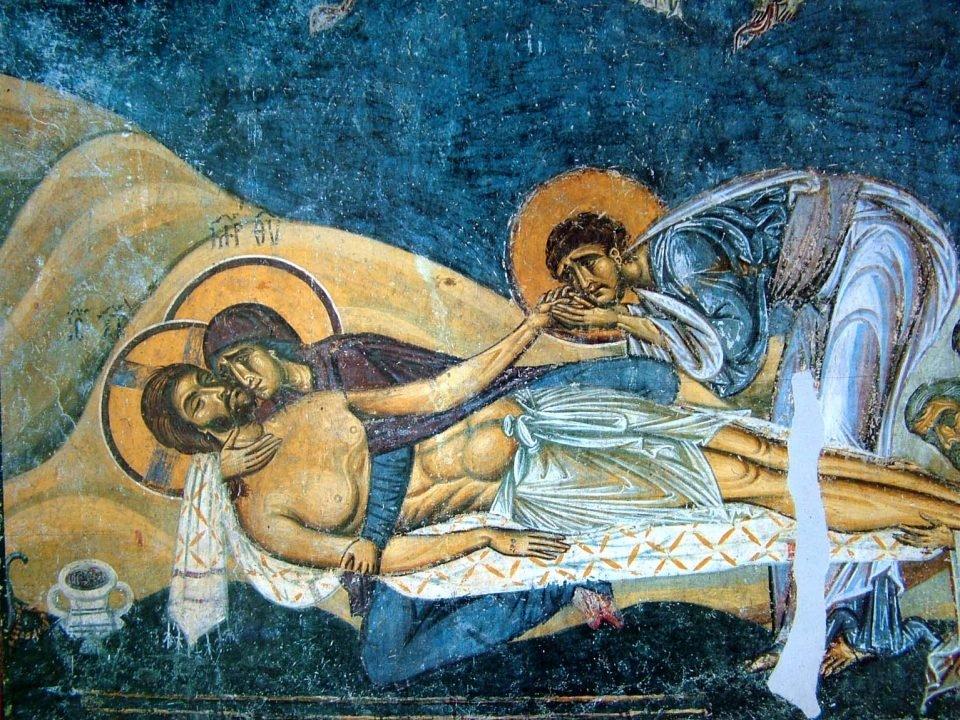 """""""Оплакувањето на Исус"""" фреска од 1164 година"""